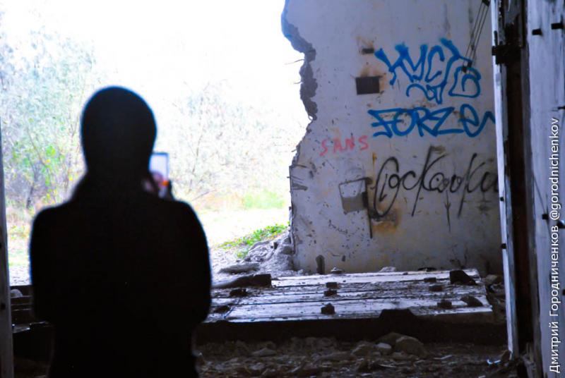Разрушенные стены на Крымской АЭС