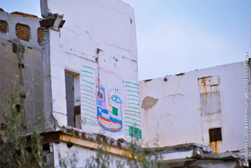 Граффити на машинном зале крымской аэс
