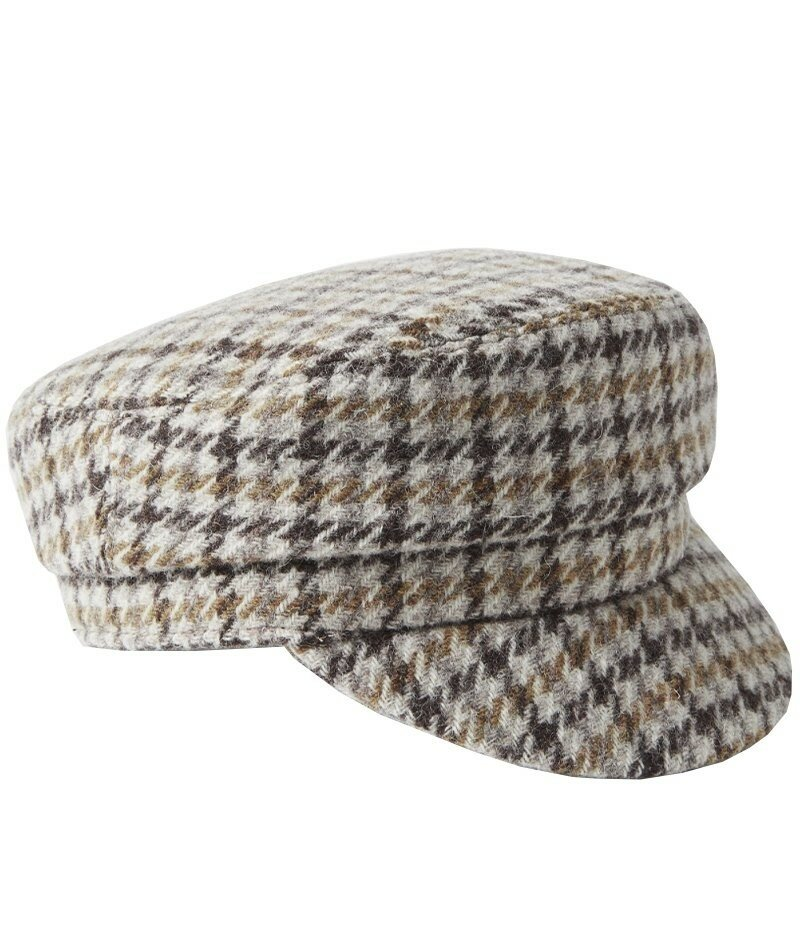 """Шерстяно-твидовая кепка Isabel Marant Evie с узором """"гусиные лапки"""". Создайте свою атмосферу в холодные дни в шерстяно-твидовой кепке Isabel Marant."""