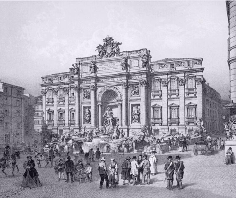 Фонтан Треви и Палаццо Поли . Смотрите галерею по стрелке справа