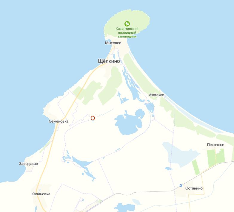 Крымская АЭС в Щелкино. Изображение взято с Яндекс Карт
