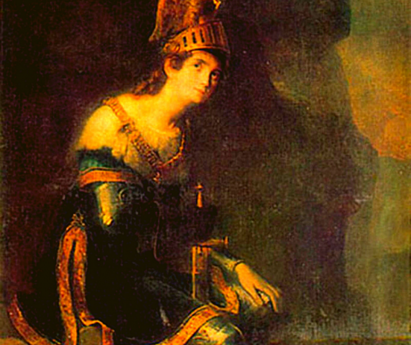 Зинаида Волконская в костюме Танкреда