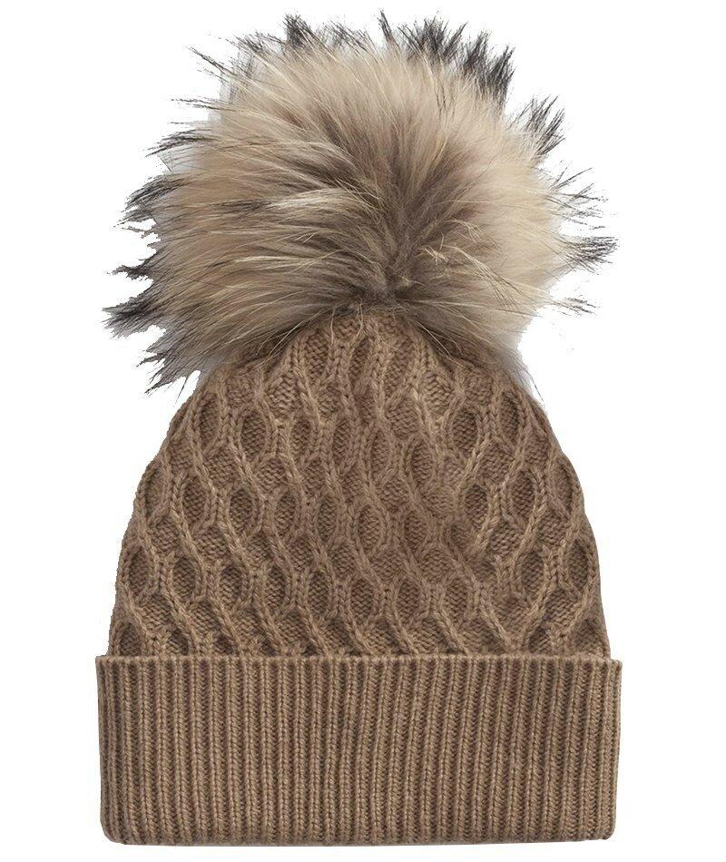 Шерстяная шапка с меховым помпоном Dolce & Gabbana. Шапка с меховым помпоном оверсайз добавит игривости осеннему и зимнему наряду.